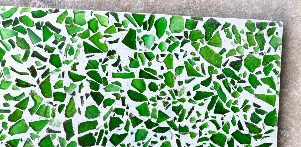Bespoke Cristal Terrazzo tiles – recycled glass