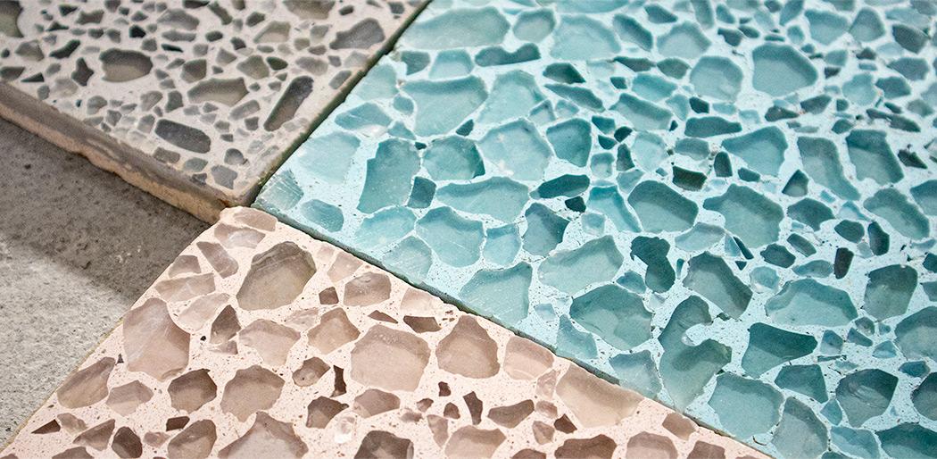 "Custom ""Cristal Terrazzo"" sample tiles"