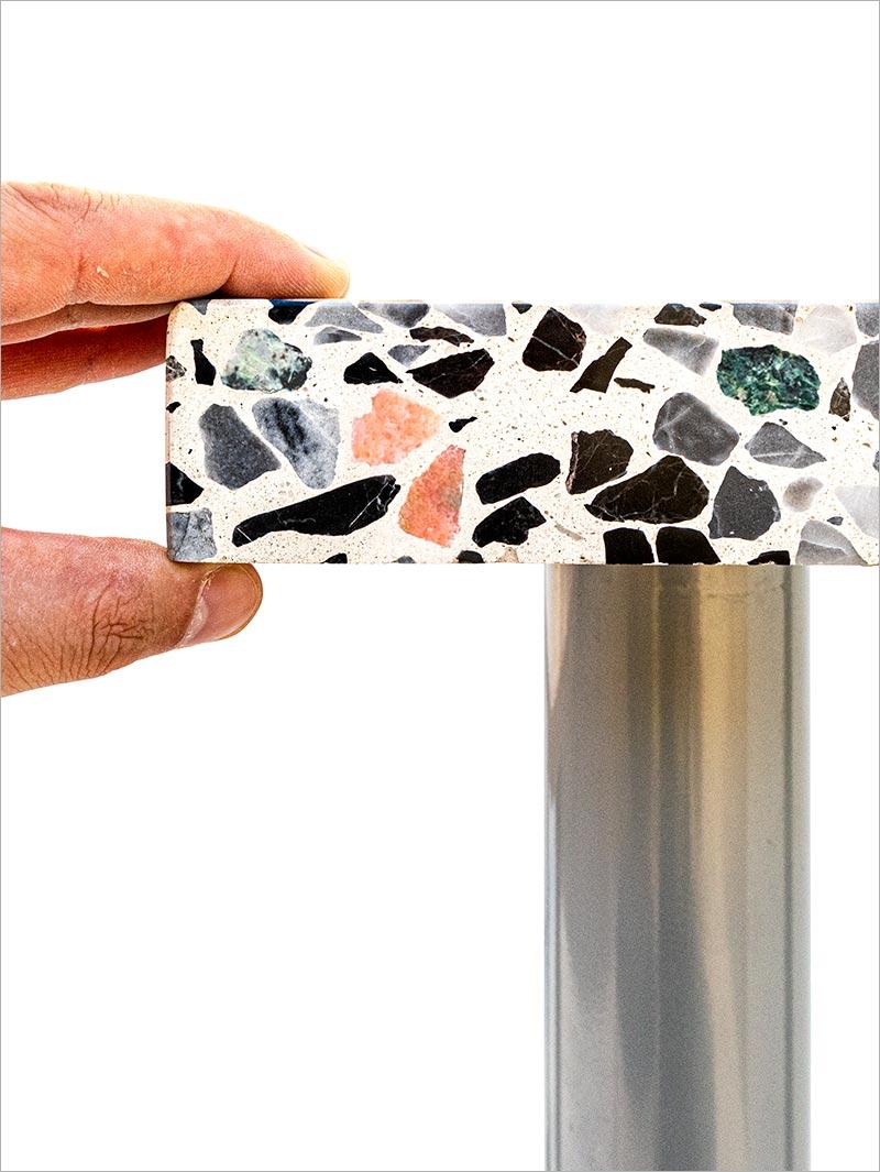 Dicke von 40 bis 70 mm, gerade oder gerundete Kanten