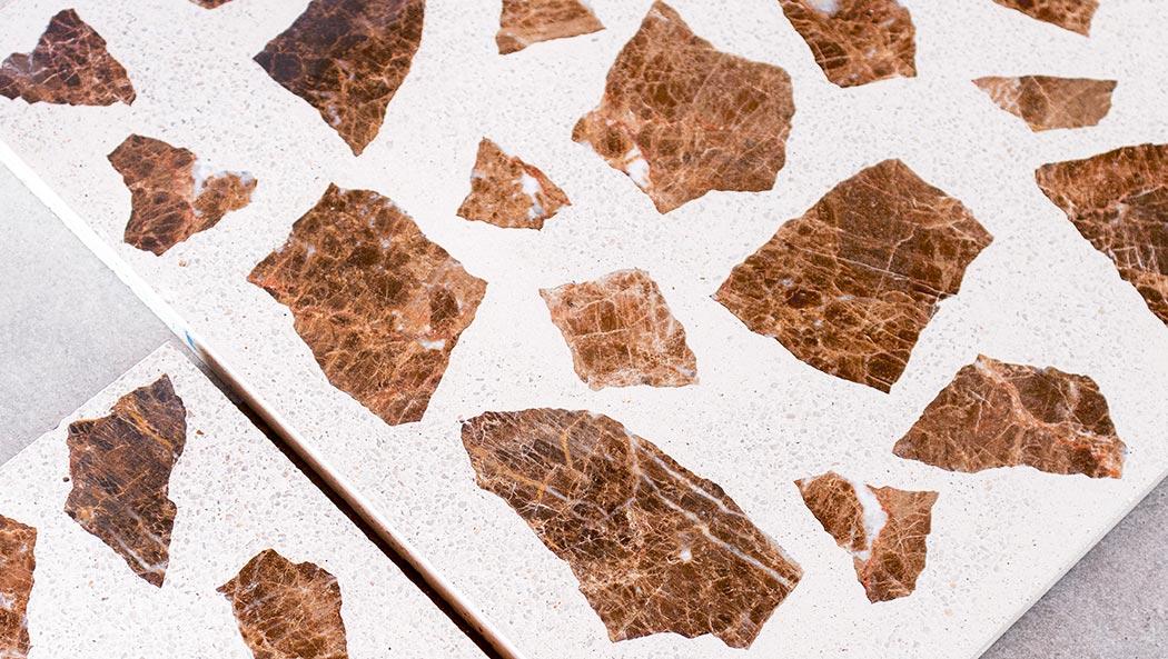 "Terrazzo large ""brown"" – tiles 40x40 cm"