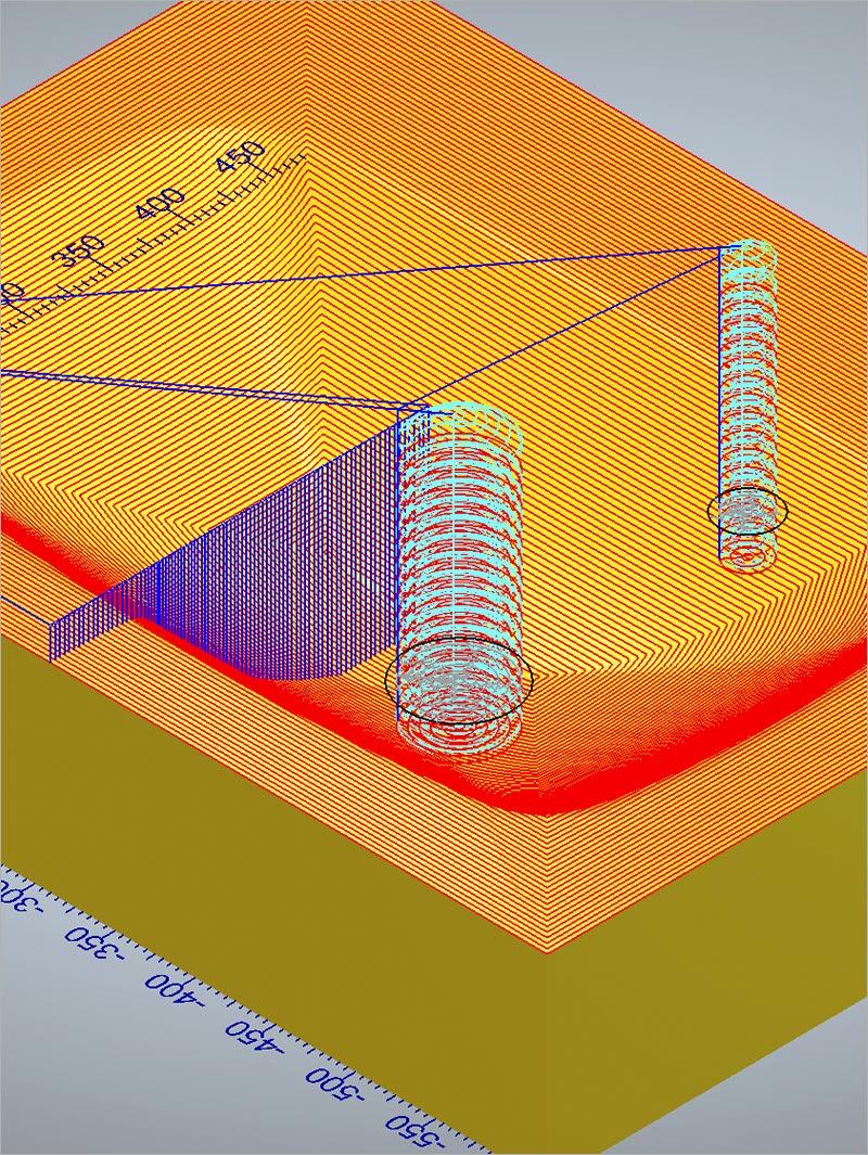 3D-Fräsen von massiver Terrazzo