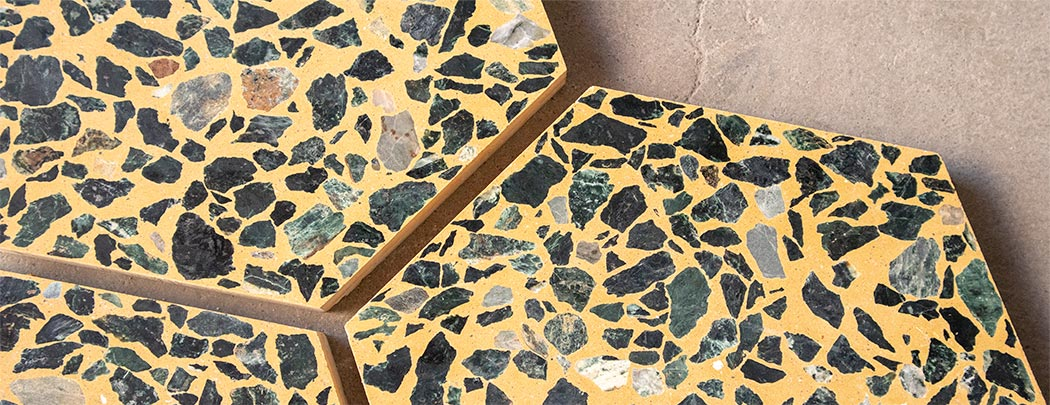 Bespoke hexagonal Terrazzo tiles