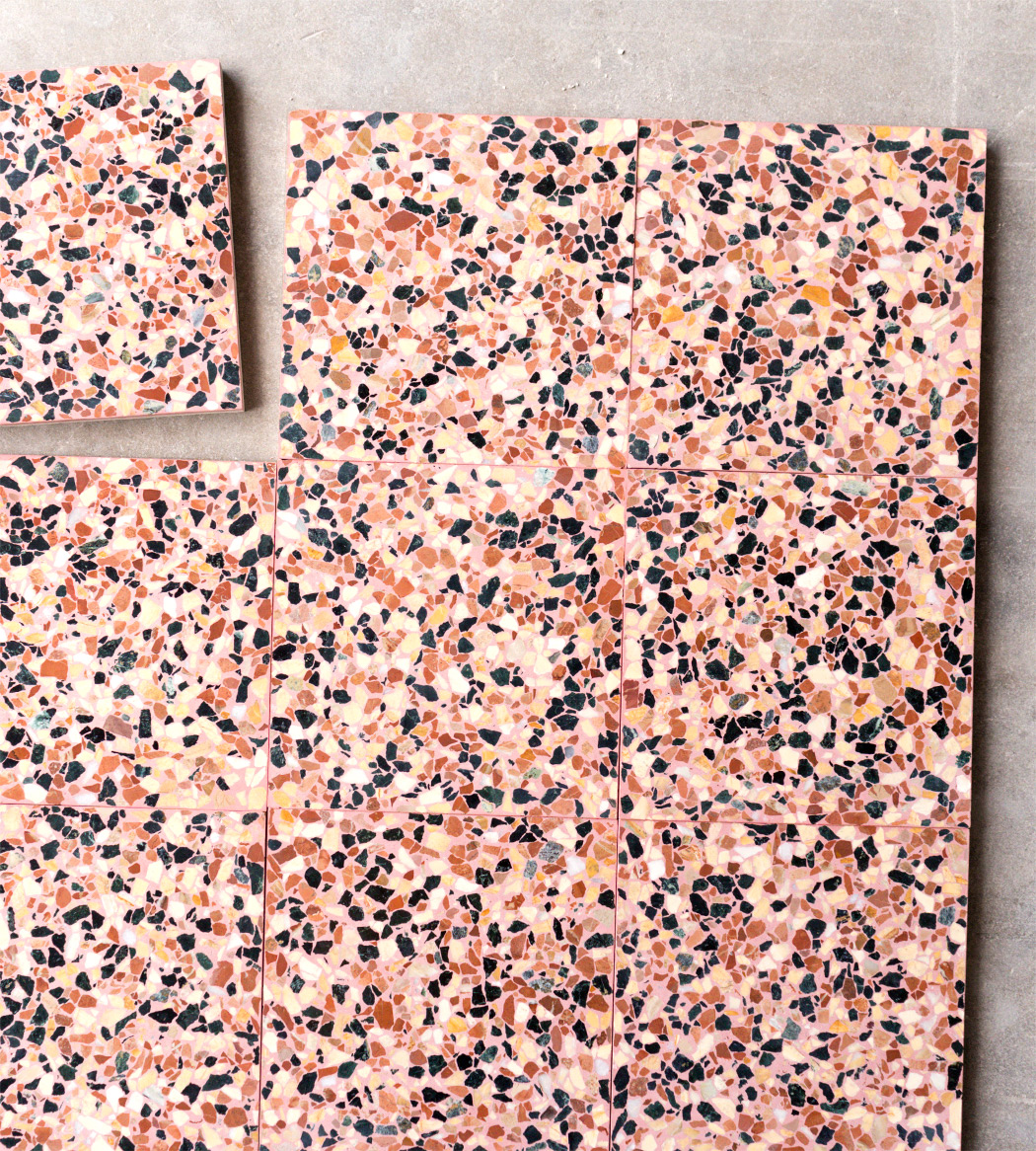 Special mix of marble chips colour, Terrazzo 30x30