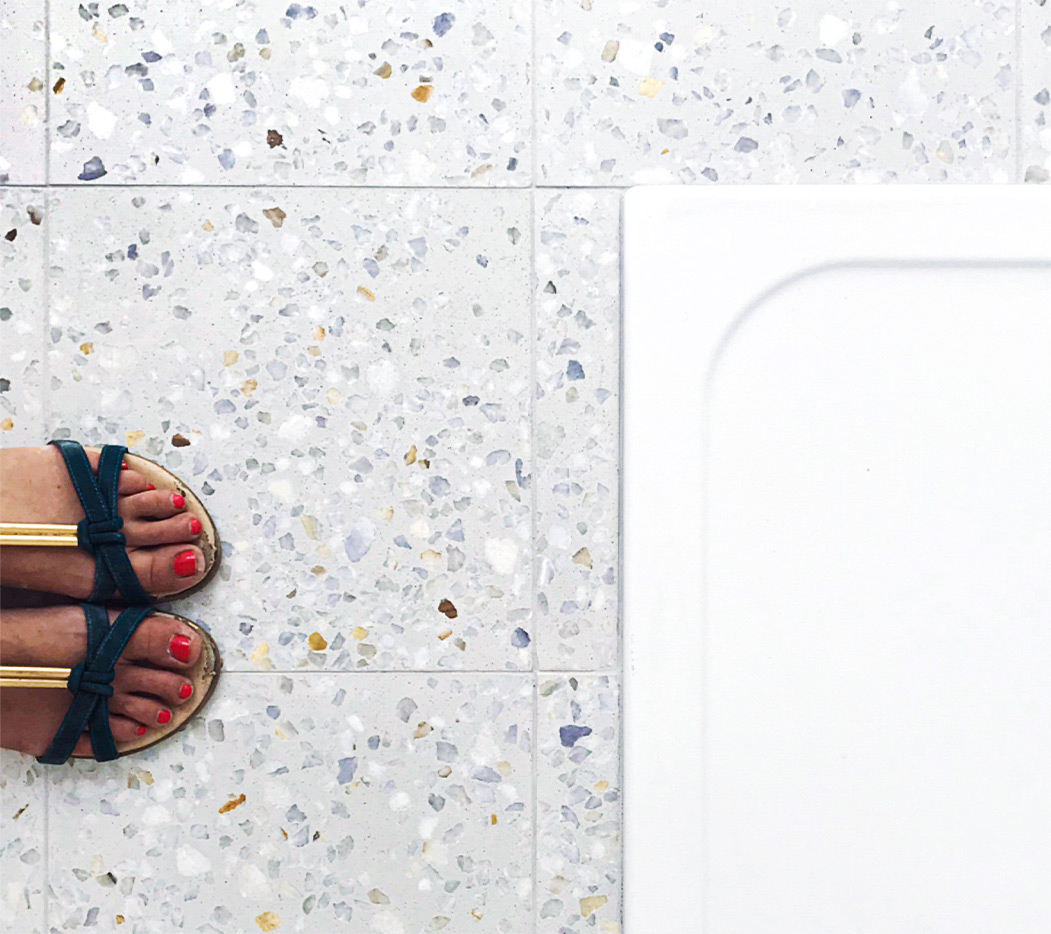 Bathroom terrazzo floor and shower tray