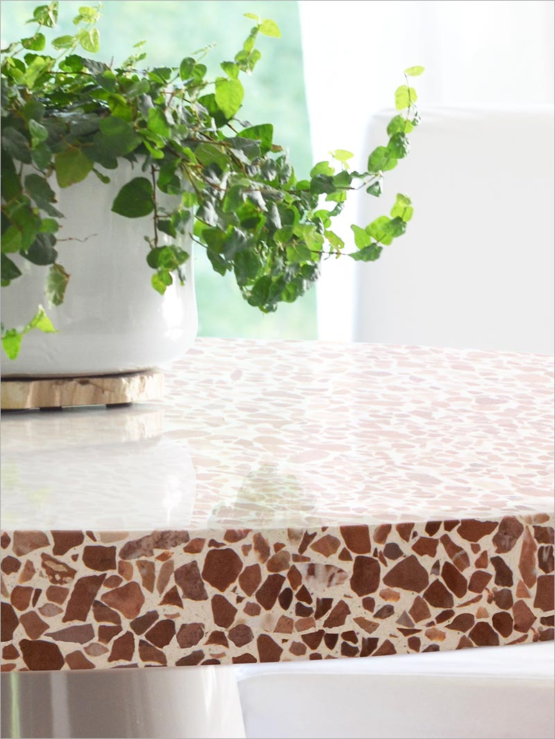 Terrazzo table, bespoke size and colour