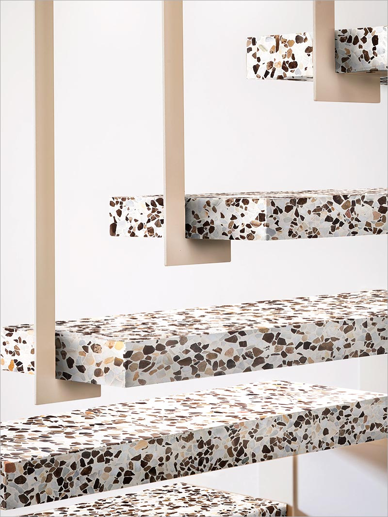 Stair steps in Terrazzo and reinforced concrete