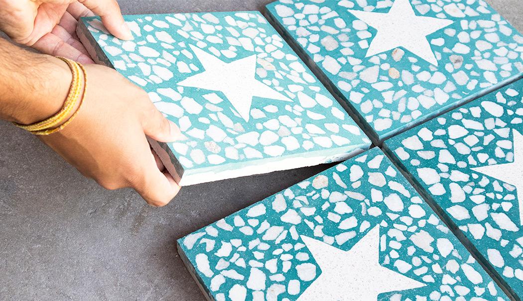 20x20 Terrazzo pattern tiles