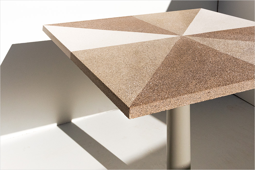 Table top in Granito pattern with different colours