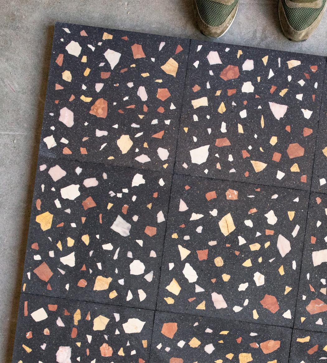 Terrazzo Wild small, 30x30 cm, black background