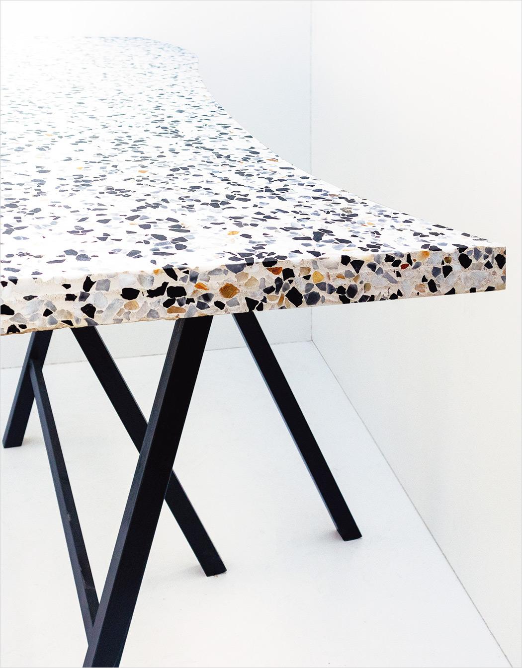 Large bar counter, curved custom shape