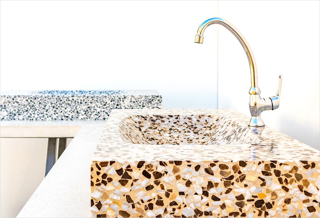 Set of bathroom sinks, Terrazzo Marble 10